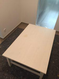 Das Upcycling Objekt ein IKEA Hemnes Couchtisch