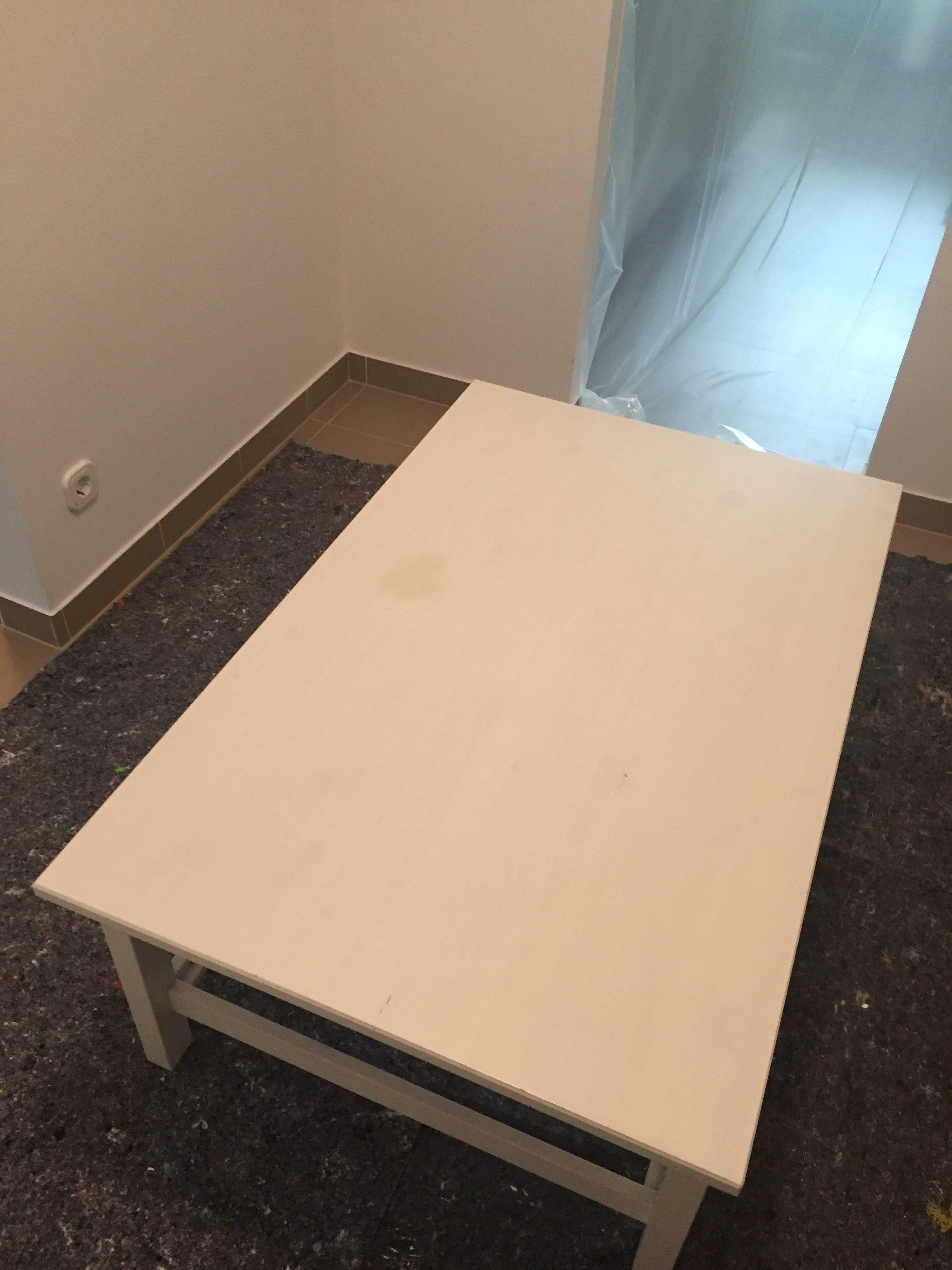 Couchtisch ikea hemnes  Upcycling - IKEA Hemnes Couchtisch lackieren DIY