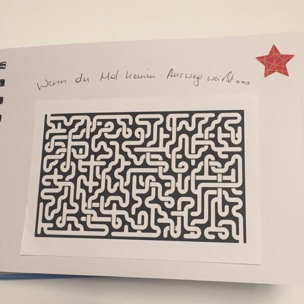 Wenn Buch Idee - Labyrinth: wenn du Mal keinen Ausweg weißt